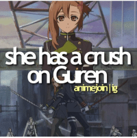 Anime, Crush, and Facts: she has acrush  on Guren  anmejoinl QOTD: Do you have a Crush? | Want more Anime Facts? -> Follow @animee ! 🔥 . . Cr. @animejoin