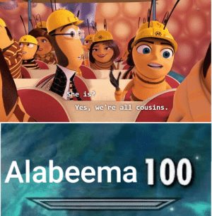 Dank, God, and Memes: She is?  Yes, we're all cousins.  Alabeema 100 Dear god by CelestialCheeze MORE MEMES