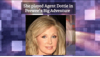 Memes, 🤖, and Adventure: She played Agent Dottie in  Peewee's Big Adventure Today is Morgan Fairchild's 67th Birthday!