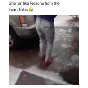 Frozone, Gif, and The Incredibles: She ran like Frozone from the  incredibles ruinedchildhood: