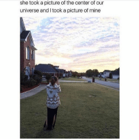 LOML text my phone liKeeeee💕💕😘: she took a picture of the center of our  universe and I took a picture of mine LOML text my phone liKeeeee💕💕😘
