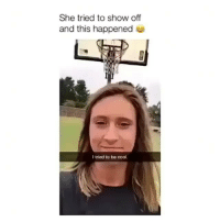 Memes, Cool, and 🤖: She tried to show off  and this happened  I tried to be cool. Follow me (@bitchy.code) for more