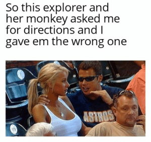 She was begging for the directions: She was begging for the directions