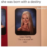 "i feel so bad for her oh no: she was born with a destiny  @gargling  m  Lisa Horny  ""This is my actual last i feel so bad for her oh no"