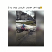 Driving, Drunk, and Red: She was caught drunk driving  Viral Caught red handed