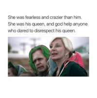 RT @ShamelessSeries: Who made this 😂😂: She was fearless and crazier than him  She was his queen, and god help anyone  who dared to disrespect his queen. RT @ShamelessSeries: Who made this 😂😂