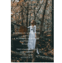 """Instagram, Tumblr, and Blog: SHE WAS IN A WAR WITH  A HUNDRED MEMORIES  EMPTIED AS  ULLET  TWO CAUSALITIES  ONE DEATH  ATTICUS LI <p><a href=""""http://lifepro-tips.tumblr.com/post/174795043622/see-more"""" class=""""tumblr_blog"""">lifepro-tips</a>:</p><blockquote><p> See more @ <b><a href=""""https://www.instagram.com/atticus.verses/?hl=en"""">https://www.instagram.com/atticus.verses/?hl=en</a></b>  <br/></p></blockquote>"""