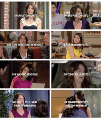 Robin. #HIMYM https://t.co/KlhbBHb97z: SHE WAS TO0 QUIET  RSHE WAS TOO LOUDED  SLEYAN  SHETOOKTHINGS TO0 SERIOUSLY  0TSERIOUSLY ATAL  SHEWAS TO0 SENSITIVE  OR TOO COLD-HEARTED  SHE HATED WITH EVERY  FIBER OF HER BEING  R LOVED WITH EVERY  PIECEOF HER HEART Robin. #HIMYM https://t.co/KlhbBHb97z