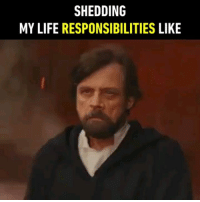 9gag, Bones, and Life: SHEDDING  MY LIFE RESPONSIBILITIES LIKE Sticks and stones may break my bones but lightsaber excites me. - 9gag starwars lukeskywalker markhamill