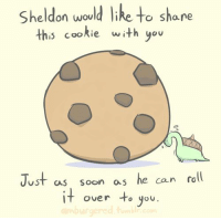 """<p>Happy Wednesday, friends! via /r/wholesomememes <a href=""""http://ift.tt/2qrYPil"""">http://ift.tt/2qrYPil</a></p>: Sheldon would like to share  this cookie with you  Just as soon as he can rall  it over to you.  uST  CAS SOon a <p>Happy Wednesday, friends! via /r/wholesomememes <a href=""""http://ift.tt/2qrYPil"""">http://ift.tt/2qrYPil</a></p>"""