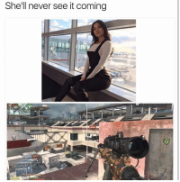 Memes, Wshh, and Camera: She'll never see it coming  FREDDAN95  HE Gotta hit her with the trick shot. Hitting a collateral on her and the camera man 😂 WSHH