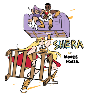 Tumblr, Blog, and Furniture: SHERA  MovES  HOUSE fujifingerz:  I Just recently moved house and while picking up furniture thought of this :