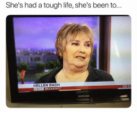 Dead😂: She's had a tough life, she's been to..  HELLEN BACH  BBC BREAKFAST  08:5  SAMSUNG Dead😂