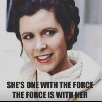 Sending our prayers and healing vibes her way. Use the force. We need to save our princess. #carriefisher #starwars: SHES ONE WITH THE FORCE  THE FORCE IS WITHHER Sending our prayers and healing vibes her way. Use the force. We need to save our princess. #carriefisher #starwars