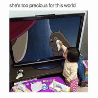 Cute, Memes, and Precious: she's too precious for this world  0 Oh, now I need a tissue this is too cute 💔