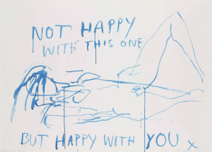 shesmoody:Tracy Emin, Happy with you, 2001: shesmoody:Tracy Emin, Happy with you, 2001