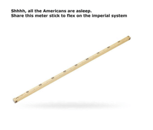 Flex on the imperial system via /r/memes https://ift.tt/2YSc78J: Shhhh, all the Americans are asleep.  Share this meter stick to flex on the imperial system  90  80  70  4C  30  20  cE 10 Flex on the imperial system via /r/memes https://ift.tt/2YSc78J