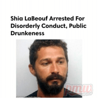 Memes, Shia LaBeouf, and Georgia: Shia LaBeouf Arrested For  Disorderly Conduct, Public  Drunkeness  IPHOP  Chatham County Sheriff's Department ShiaLaBeouf released on bond after being arrested in Georgia, more details here >> pmwhiphop.com link in bio