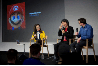 Mario creator Shigeru Miyamoto at Apple SoHo yesterday. Play #SuperMarioRun early at Apple stores worldwide. apple.co/SuperMarioRun: Shigeru Mlyamoto Mario creator Shigeru Miyamoto at Apple SoHo yesterday. Play #SuperMarioRun early at Apple stores worldwide. apple.co/SuperMarioRun