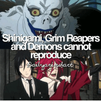 QOTD: Death note or Black Butler? | Follow @ruianime for Anime Facts | ⭐ . . Cr. dailyanimefact: Shini  Reapers  and Demons cannot  reproduce QOTD: Death note or Black Butler? | Follow @ruianime for Anime Facts | ⭐ . . Cr. dailyanimefact