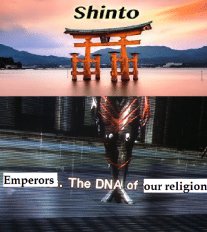 When your literally the most important goddess for a religion and need to pass it down.: Shinto  Emperors The DNA of  religion  our When your literally the most important goddess for a religion and need to pass it down.