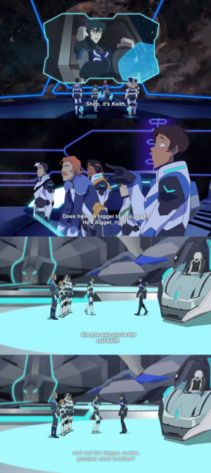Juice, Target, and Tumblr: Shiro, it's Keith.   Does helook bigger to you guys?  He's bigger, right   Are you sure you're the  real Keith   and not his bigger, cooler  grizzled older brother? prinzcake:  SQEUAKS Lance is so. He just keeps talking about Keith's growth. He calls him BIGGER AND COOLER. ASDJKFCmon Keith..pay some attention to Lance U_U….Lance is so neglected this season my heart is brokenThis was all the Klance juice I could squeeze out of S6 It is. Not enough.I'm even thirstier then before…My klance well is all empty and dried up..