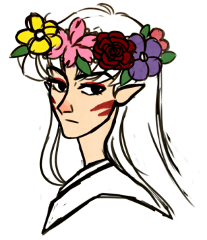 Bored, Target, and Tumblr: shiroikogo:  when ur bored the obvious answer is: draw ur shitty son in a flower crown
