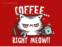 :): shirt woot!  COFFEE  RIGHT MEOW!! :)