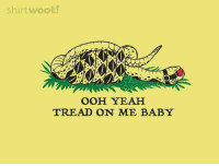 Shirt Woot: shirt woot!  OOH YEAH  TREAD ON ME BABY