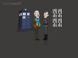 Death Star, Doctor, and Omg: shirtwoot! omg-images:  [OC] Peter Cushing as The Doctor meeting his alternative reality self aboard the Death Star. An idea I had ages ago that was finally used by a shirt company today.