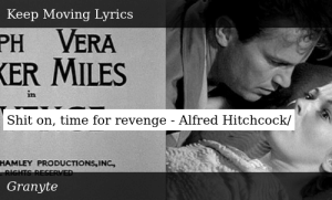 SIZZLE: Shit on, time for revenge - Alfred Hitchcock/