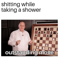 shitting while  taking a shower  outstanding-move Waffle Stomp