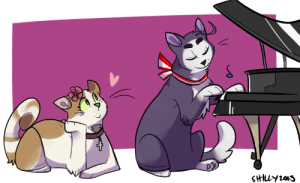shoutmons:   i wanted to upload some new art and i remembered i drew aushun kitties for alli (tumblr user mosoli) and i liked the pic so here ignore the ugly piano omfg : SHLY203 shoutmons:   i wanted to upload some new art and i remembered i drew aushun kitties for alli (tumblr user mosoli) and i liked the pic so here ignore the ugly piano omfg