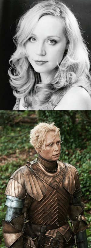 shmemson:  vernacular-manslaughter:  octospider:  Gwendoline Christie is the actress for Brienne of Tarth in Game of Thrones. She stands at 6 feet 3 inches tall and took swordfighting, horseriding, and stagefighting lessons for her part, as well as gaining 14 pounds of muscle, to accurately portray Brienne. (x)  She was also terrified of cutting her hair because she'd spent her life believing it was one of the only things that would make people see her as feminine despite her height. In an interview with TV Guide she said: I struggled for a long time with [cutting] my hair, but then I'm grateful for the opportunity to realize that femininity doesn't have to come from hair or any of those traditional female archetypes of appearance, So, that's been exciting actually. I can't speak with any kind of authority whatsoever because I'm just an actor and I only have my opinions, but I do think it's really refreshing to have a woman depicted on a mainstream TV show that doesn't obey typical aesthetics of females and the way they have been portrayed in the past. And I'm really excited to be portraying one of those women. And I hope that her popularity signals a greater expansion of people's views about men and women and that gender types can be more flexible.  She's so so so so great. I think she's just incredible. : shmemson:  vernacular-manslaughter:  octospider:  Gwendoline Christie is the actress for Brienne of Tarth in Game of Thrones. She stands at 6 feet 3 inches tall and took swordfighting, horseriding, and stagefighting lessons for her part, as well as gaining 14 pounds of muscle, to accurately portray Brienne. (x)  She was also terrified of cutting her hair because she'd spent her life believing it was one of the only things that would make people see her as feminine despite her height. In an interview with TV Guide she said: I struggled for a long time with [cutting] my hair, but then I'm grateful for the opportunity to realize that femininity doesn't have to come from hair or any of those traditional female archetypes of appearance, So, that's been exciting actually. I can't speak with any kind of authority whatsoever because I'm just an actor and I only have my opinions, but I do think it's really refreshing to have a woman depicted on a mainstream TV show that doesn't obey typical aesthetics of females and the way they have been portrayed in the past. And I'm really excited to be portraying one of those women. And I hope that her popularity signals a greater expansion of people's views about men and women and that gender types can be more flexible.  She's so so so so great. I think she's just incredible.