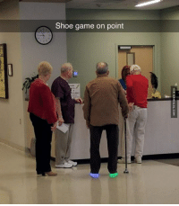 Aging Is Mandatory, Maturing Is A Choice http://www.damnlol.com/aging-is-mandatory-maturing-is-a-choice-97255.html: Shoe game on point  VIA DAMNLOL.COM Aging Is Mandatory, Maturing Is A Choice http://www.damnlol.com/aging-is-mandatory-maturing-is-a-choice-97255.html