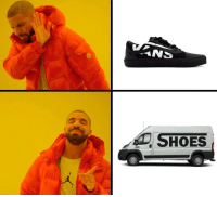 The ol switcharoo: SHOES The ol switcharoo