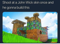 bruh these John wicks absolutely asssssss , they be purchasing like 60 tiers: Shoot at a John Wick skin once and  he gonna build this bruh these John wicks absolutely asssssss , they be purchasing like 60 tiers