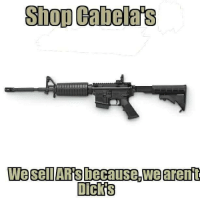 "Dicks, Memes, and Academy: Shop Cabelas  Dicks It said ""Cabela's or Academy""  We haven't forgotten Academy's antigun history."