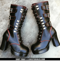Memes, Boots, and Buckle: SHOP TODAY SINISTERSOLES.COM Lace-up boots w/Buckled Straps! In stock now at SinisterSoles.com - http://www.sinistersoles.com/GOTHIKA-101-Black-Platform-Boots-p/s-demonia-gothika-101-boots.htm