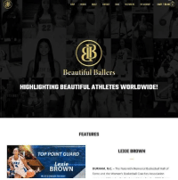 Basketball, Beautiful, and Videos: SHOP VIDEOS ABOUT CONTACT BLDG FEATURE ME MYACCOUNTv CART/S0.00  25  Beautiful Ballers  HIGHLIGHTING BEAUTIFUL ATHLETES WORLDWIDE!  FEATURES  LEXIE BROWN  TOP POINT GUARD  Lexie  BROWN  DURHAM, N.C. The Naismith Memorial Basketball Hall of  Fame and the Women's Basketball Coaches Association  ONE OF 10 TINALISTS FOR NANCY It's coming! beautifulballers.com is launching March 1st!! Here's a teaser of the home page 🙂 #beautifulballers #moretocome #staytuned #launchingsoon #websitelaunch #growth