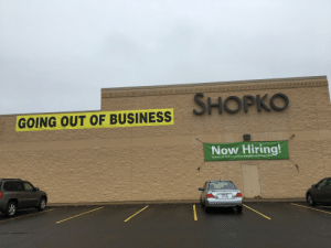 Facepalm, Business, and Com: SHOPKO  GOING OUT OF BUSINESS  Now Hiring  seasonal opportunities shopko.com/careers Exciting career opportunities!