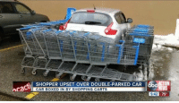 Finally some positive news.: SHOPPER UPSET OVER DOUBLE-PARKED CAR 6bcATON  cacti  CAR BOXED IN BY SHOPPING CARTS  5:42 75 Finally some positive news.