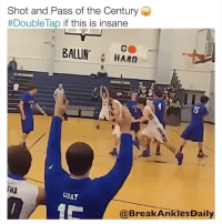 Memes, Never, and 🤖: Shot and Pass of the Century Ge  #Doublelap if this is insane  BALLIN, HARn  15  lS  GRAY  @BreakAnklesDaily NEVER FORGET 😯💯 Rate yourself in Shooting from 1-10! 😨🙌 - Follow @Sportzmixes For More‼️ - @breakanklesdaily