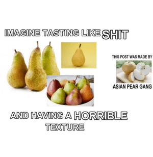 Shots fired. #Memes #Pears #Fruit #FoodAndDrinks #AsianPears: Shots fired. #Memes #Pears #Fruit #FoodAndDrinks #AsianPears
