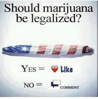 Marijuana, Yes, and Think: Should marijuana  be legalized?  YES = Y Like  COMMENT What do y'all think? 🤔👇 https://t.co/Cez2KO10zf