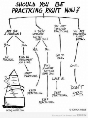 9gag, Bored, and Tumblr: SHOULD YOU BE  PRACTICING RIGHT NOW?  You JUST  FINISHED  PRACTICING  ARE YoU  A MUSICIAN  ARE  RACTICING  RIaHT  Now.  IS THERE  2 S0MEONE  BETTER  THAN You  5  Go To  BED.  FIND AN  PRCTICE, INSTRUMENT  You LIKE.  FIND  GooD。  SOMEONE  BETTER  START  PRACTCINá.  NAKE UP  KEEP  PRACTICING PRACEPCING, 5T0R  PRACTICINá.  KEEP  PRACTICINa  OJOSHUA WELLS  You won't be bored on 9GAG.COM studentlifeproblems:  If you are a student Follow @studentlifeproblems