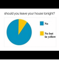 STAY AT HOME AND FILL A ONESIE WITH YOUR FARTS: should you leave your house tonight?  No  No but  in yellow STAY AT HOME AND FILL A ONESIE WITH YOUR FARTS