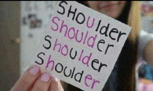 Drunk, Girls, and Saw: SHOUlder  Shoulder  Shoulder  Shoulder Girls, being drunk is more fun than I remember and my dysphoria is slightly less as when I saw my reflection I only hated it instead of loathing it