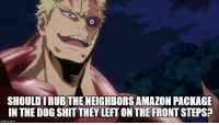 Amazon, Shit, and Neighbors: SHOULDI RUB THE NEIGHBORS AMAZON PACKAGE  IN THE DOG SHIT THEY LEFT ON THE FRONT STEPS  imgflip.com