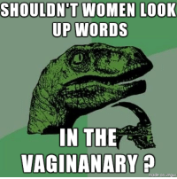 Lazy, Women, and 10 Guy: SHOULDN'T WOMEN LOOK  UP WORDS  IN THE  VAGINANARY  made onimaur <p>Too lazy to find the 10 Guy template</p>